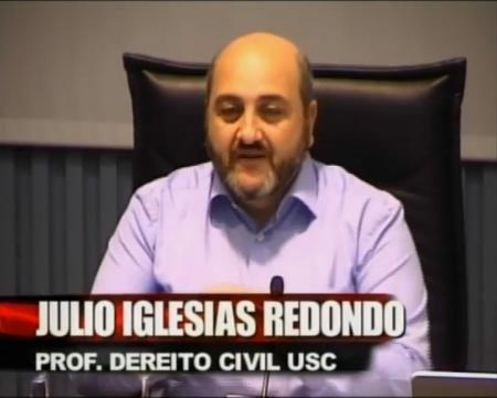 Julio Iglesias Redondo, Profesor de Dereito Civil da Universidade de Santiago de Compostela - Xornadas sobre o Rexistro de Parellas de Feito de Galicia